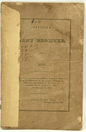 OFFICIAL ARMY REGISTER, FOR 1845