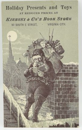 HOLIDAY ADVERTISING CARD] HOLIDAY PRESENTS AND TOYS AT REDUCED PRICES AT KIERSKI & CO'S BOOK...