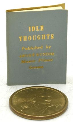 IDLE THOUGHTS