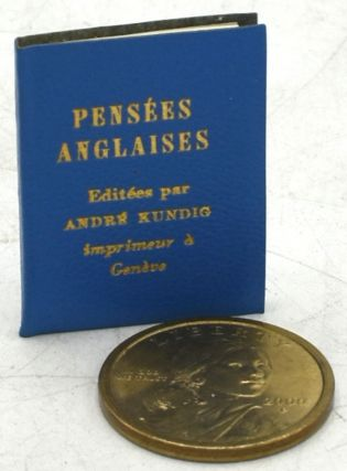 PENSEES ANGLAISES