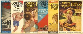 THE OPEN ROAD FOR BOYS [6 ISSUES FROM 1938