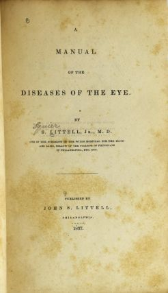 A MANUAL OF THE DISEASES OF THE EYE.