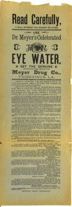 ADVERTISING BROADSHEET] USE DR. MEYER'S CELEBRATED EYE WATER
