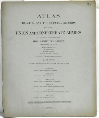 PART 32] ATLAS TO ACCOMPANY THE OFFICIAL RECORDS OF THE UNION AND CONFEDERATE ARMIES. PLATE CLVI...
