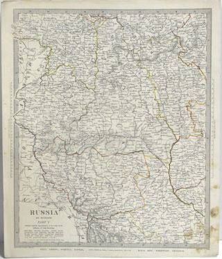 MAP OF RUSSIA IN EUROPE, PART V. FROM MAPS MODERN & ANCIENT