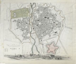 MAP OF PARMA FROM MAPS MODERN & ANCIENT
