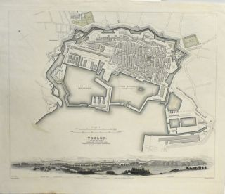 MAP OF TOULON FROM MAPS MODERN AND ANCIENT