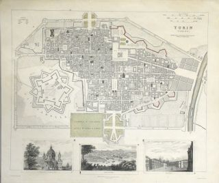 MAP OF TURIN FROM MAPS MODERN AND ANCIENT