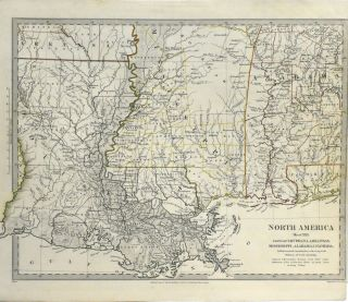 MAP OF NORTH AMERICA, SHEET XIII. PARTS OF LOUISIANA, ARKANSAS, MISSISSIPPI, ALABAMA & FLORIDA....