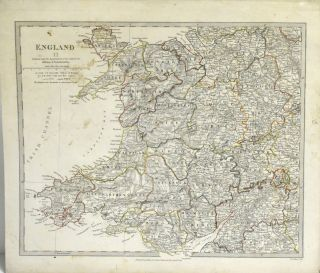 MAP OF ENGLAND, PART II. [MAP OF WALES] FROM MAPS MODERN & ANCIENT