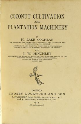 COCONUT CULTIVATION AND PLANTATION MACHINERY.