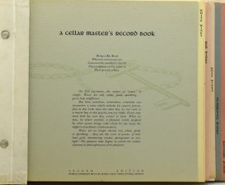 [OENOPHILE] A CELLAR MASTER'S RECORD BOOK.
