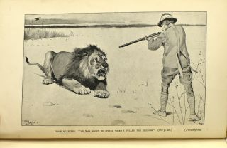 """LION-HUNTING IN SOMALI-LAND, ALSO AN ACCOUNT OF """"PIGSTICKING"""" THE AFRICAN WART-HOG"""