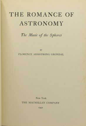 THE ROMANCE OF ASTRONOMY. THE MUSIC OF THE SPHERES.