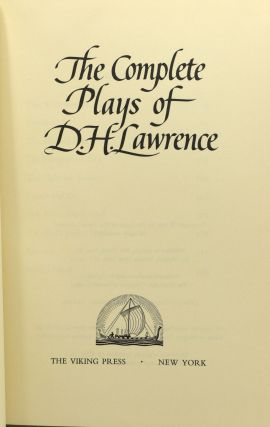 THE COMPLETE PLAYS OF D. H. LAWRENCE.