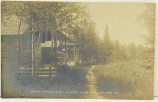 POSTCARD; REAL PHOTOGRAPH] LAKE PARLIN CAMPS, MAINE