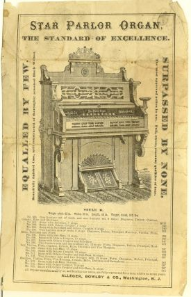 BROADSIDE | FLYER] STAR PARLOR ORGAN. 1870's