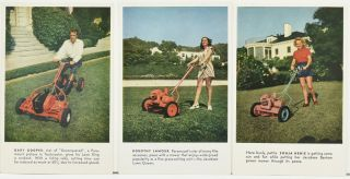 ADVERTISING CARDS] JACOBSEN LAWN MOWERS