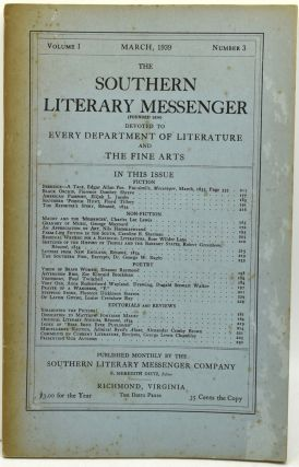 THE SOUTHERN LITERARY MESSENGER. VOLUME I, NUMBER 3. F. Meredith Dietz, Dugald Stewart Walker