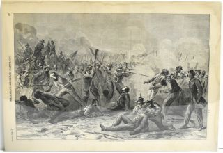 THE BATTLE OF FORT PILLOW. MASSACRE. Pictorial History of the Great Rebellion-1868