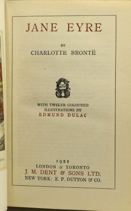 THE NOVELS OF CHARLOTTE, EMILY AND ANNE BRONTE. JANE EYRE, THE PROFESSOR, VILLETE THE TENANT OF WILDFELL HALL WITH AGNES GREY, SHIRLEY, WUTHERING HEIGHTS (6 Volumes)