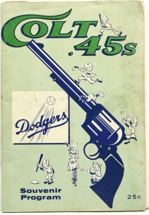 SOUVENIR PROGRAM] [BASEBALL] COLT .45s | DODGERS, 1963