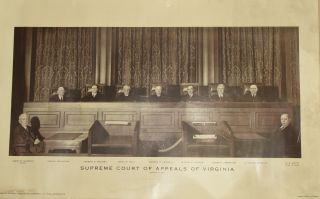 PHOTOGRAPH] SUPREME COURT OF APPEALS OF VIRGINIA. 1941